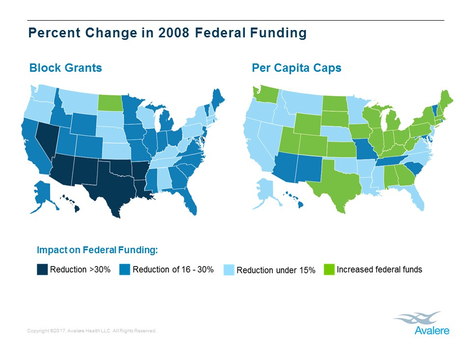 Medicaid Expansion States Map 2017.Capped Funding In Medicaid Could Significantly Reduce Federal